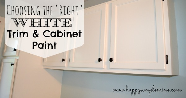 choosing the right white trim cabinet paint happy simple mine